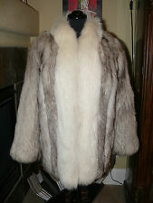 Gorgeous Blue & Artic Fox Fur Jacket Coat