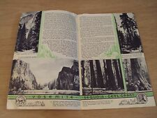 """1935 SAN DIEGO Exposition Promo from STANDARD OIL~""""The NATIONAL PARKS"""" Yosemite~"""