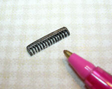 Miniature Tiny Black Metal Comb w/Teeth! for DOLLHOUSE Miniatures 1/12 Scale