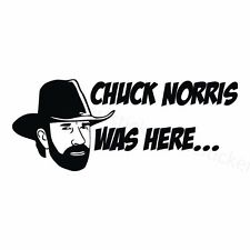 2x Chuck Norris was here Aufkleber Car Moto Window Bumper Sticker Vinil 182