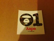 100000% authentique aape by a bathing ape bape autocollant nouveau et inutilisé de boutique