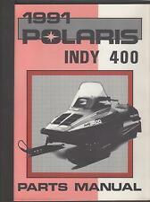 1991 POLARIS SNOWMOBILE INDY 400  P/N 9911924 PARTS MANUAL (779)