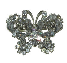 Brand New silver Clear Butterfly Rhinestone Crystal Pin Brooch wedding party #6