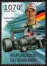 Michael Schumacher Mercedes AMG Petronas & fórmula 1 GP Raza/Sello de coche de carreras