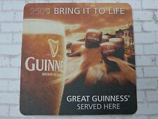 Beer Collectible Coaster    GUINNESS Brewing Stout    250th Party Trip Giveaway
