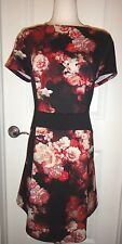 Adrianna Papell Woman Black/Red Floral Knee Length Dress SZ-16W~Beautiful~