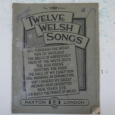 TWELVE WELSH SONGS words in english , paxtion star edition