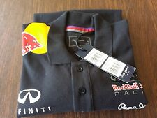 NWT AUTHENTIC PEPE JEANS INFINITI RED BULL RACING F1 TEAM 2014 MEN BUTTON POLO