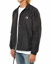 Men's RVCA ANP Coaches Black Spray Windcheater Jacket - Size M. NWT, RRP $119.99
