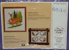New VTG Creative Circle Four Seasons Embroidery Kit Floral Flowers Love Hearts