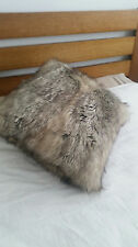 CHARCOAL FAUX FUR CUSHIONS ( A SET OF TWO)