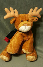 2000 MARY MEYER Flip Flops Plush REINDEER Green Scarf Christmas Deer Stuffed 13""