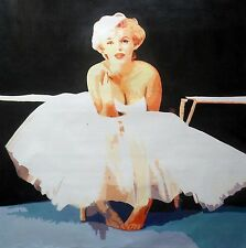 Marilyn Monroe 28x28 Pop art Oil Painting,NOT a print poster, framing available