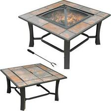 Outdoor Fire Pit Patio Table Fireplace Backyard Wood Burning Heater Deck Firepit