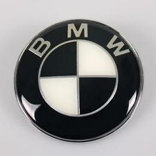 BMW Bonnet Boot Badge Emblem 82 mm E30 E36 E46 E60 3 5 7 X Series black/white