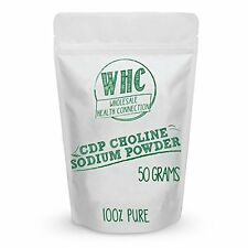 CDP Choline Powder (Citicoline Sodium) 50g (200 Servings) | Promotes Cognitive E