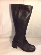 Ecco Black Knee High Leather Boots Size 4.5