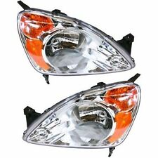2002 2003 2004 HONDA CR-V HEADLIGHT LAMP PAIR PASSENGER RIGHT & DRIVER LEFT