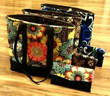 Concealed Carry Tote Purse and Matching Wallet Set With Vera Bradley Fabrics