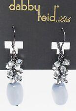 DABBY REID NEW Silver Cats Eye Hematite Drop Earrings RML 2100B Y15