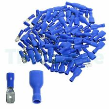 50pair 100x Blue Fully Insulated Spade Crimp Wire Cable Connector Terminal