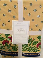 "Williams Sonoma Provence Tablecloth 70"" Round NEW! Yellow French Country NWT!"