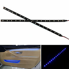 2 Pcs 12in LED Strips Blue Light Atmosphere Decorative Flexible Self-Adhesive