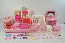Vintage 70s/80s Mattel Barbie Furniture & Accessories,Table/Chairs/Stove+-BA4200