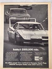 Vintage 1971 Dodge Daytona Original Print Ad Champion Spark Plugs
