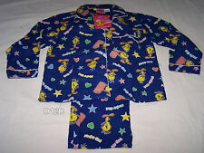 Looney Tunes Tweety Girls Dark Blue Printed Flannel Pyjama Set Size 8 New