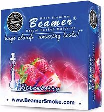 Strawberry Beamer Molasses 50g Hookah Herbal Shisha Nargila pipe Tobacco Free