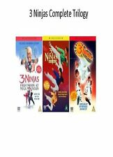 3 NINJAS TRILOGY DVD High Noon At Mega Mountain / Kick Back / Knuckle Up Triple