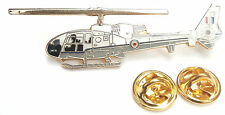 Gazelle-VIP RAF Helicopter Side View Lapel Pin Badge