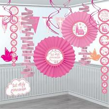Pink Holy Communion Church Room Decorating Kit - 18 Piece