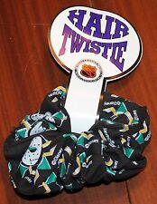VINTAGE DISNEY ANAHEIM MIGHTY DUCKS HOCKEY HAIR TWISTIE SCRUNCHIE PURPLE NOS