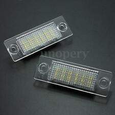 2pcs Error Free 18-LED License Plate Light For VW Transporter Passat Golf Touran