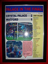 Crystal Palace 2 Watford 1 - 2016 FA Cup semi-final - framed print
