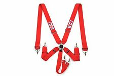 "6 Point 3"" FIA Approved (2020) STR Seat Belt Safety Harness Restraint Bucket Red"