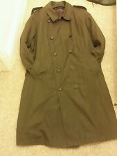 MARKS & SPENCER CHOCOLATE WATERPROOF TRENCH COAT SIZE XX LARGE