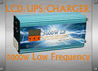 UK Stock~5000W LF Pure Sine Wave 12VDC/230VAC 50Hz PowerInverter LCD/UPS/Charger