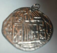 SHIPWRECK COIN PENDANT COB PIECE OF EIGHT 1600S  KINGS SEAL  FREE SHIP