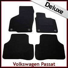VW Passat B6 B7 2005-2015 Oval Clips Tailored LUXURY 1300g Carpet Car Mats BLACK