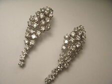 Beautiful Estate 14K White Gold Diamond Cascading Drop Chandelier Earrings