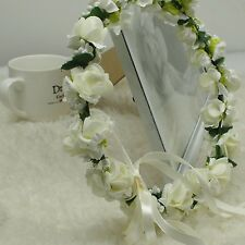 1X Flower Head Wreath Crown Floral Halo Headpiece Tool Adult Size Wedding Supply