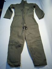 Coverall, Aircrew,Chemical & Fire Resistant Jumpsuit Set Of Two Men's Size 38R