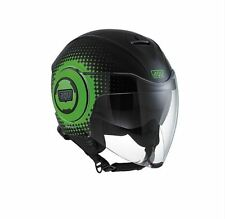 CASCO DEMI-JET AGV FLUID MULTI - PIX BLACK/GREEN TAGLIA S