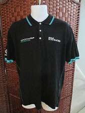 Michael Schumacher Mercedes GP Petronas Polo Shirt F1 Men's Size Large Black