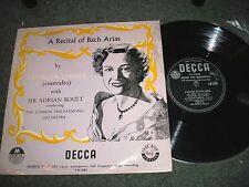 """A RECITAL OF BACH ARIAS KATHLEEN FERRIER 10"""" LP DECCA LW.5083 SIR ADRIAN BOULT"""
