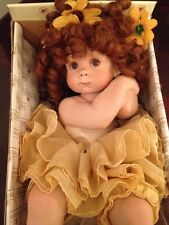 "ASHTON DRAKE/CINDY MARSCHNER ROLFE"" Porcelain And Cotton Doll Red Curly  Hair"