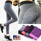 Womens Ladies Yoga Leggings Athletic Workout Running Pants Gym Trousers Fitness